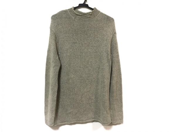 ダナキャランシグネチャー 長袖セーター サイズS メンズ ベージュ×マルチ ニット