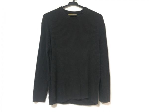 DONNAKARAN SIGNATURE(ダナキャランシグネチャー) 長袖セーター サイズS メンズ 黒