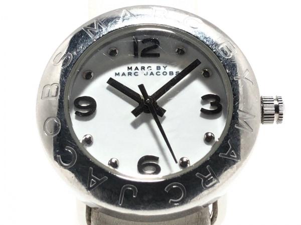MARC BY MARC JACOBS(マークジェイコブス) 腕時計 MBM8553 レディース 革ベルト 白