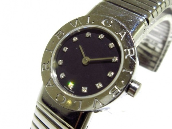 BVLGARI(ブルガリ) 腕時計 トゥボガス BB232TS レディース 12Pダイヤインデックス 黒