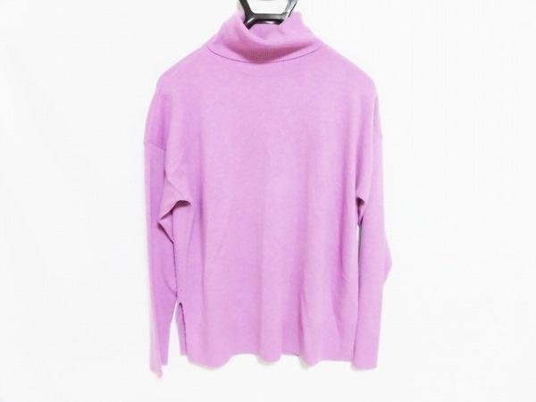 ラルフローレン 長袖セーター サイズM レディース美品  パープル タートルネック