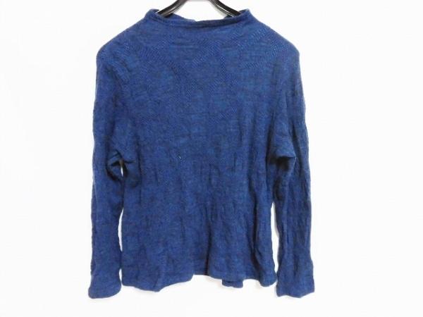 ジウ/センソユニコ 長袖セーター サイズ40 M レディース美品  ブルー×黒×マルチ