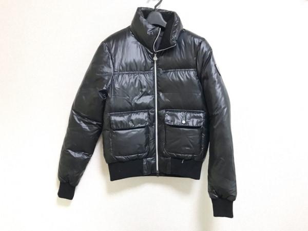 competitive price 12420 8b829 EMPORIOARMANI(エンポリオアルマーニ) ダウンジャケット サイズXS メンズ 黒 冬物/EA7