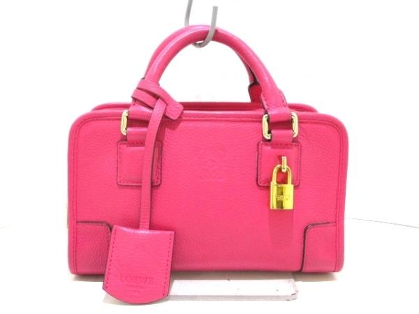 LOEWE(ロエベ) ハンドバッグ美品  アマソナ23 ピンク レザー