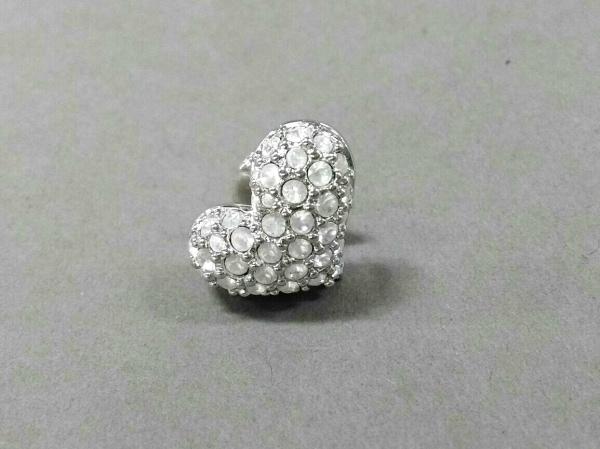 スワロフスキー ブローチ美品  スワロフスキークリスタル×金属素材 クリア×シルバー