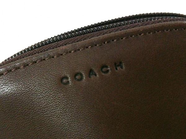 COACH(コーチ) ポーチ美品  - - ダークブラウン レザー 6