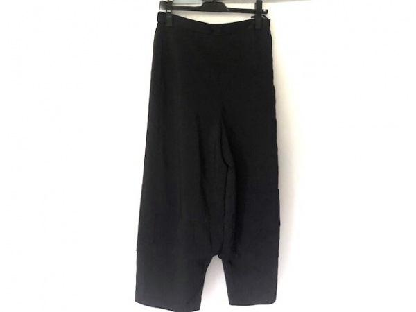 慈雨(ジウ/センソユニコ) パンツ サイズ40 M レディース 黒 ストライプ