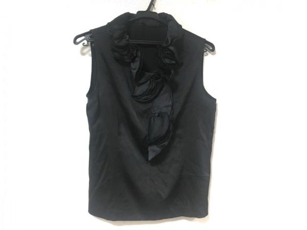 LANVIN(ランバン) ノースリーブカットソー サイズ40 M レディース美品  黒 フリル