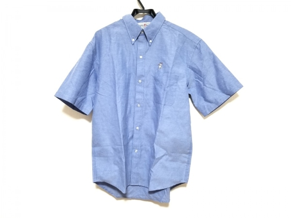 CAPTAIN SANTA(キャプテンサンタ) 半袖シャツ サイズL メンズ美品  ブルー