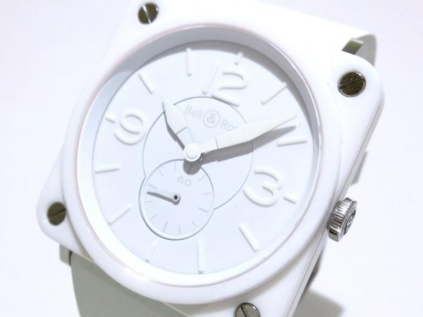 ベルアンドロス 腕時計美品  ファントム BRS-98-PWC レディース ラバーベルト 白
