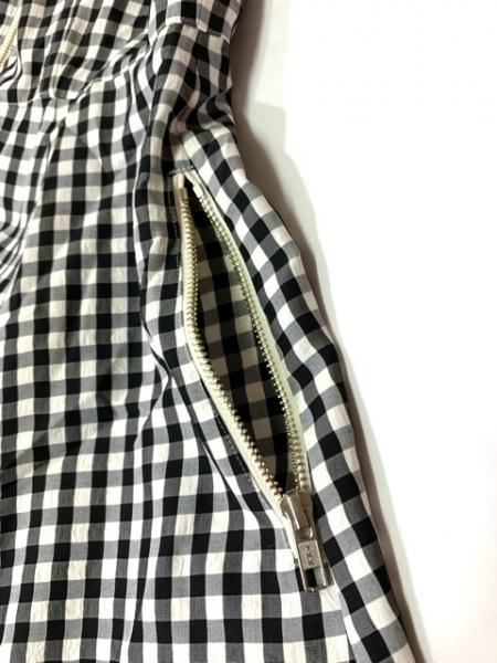 ゴルチエ ワンピース サイズ38 M レディース美品  黒×白 チェック柄/ノースリーブ