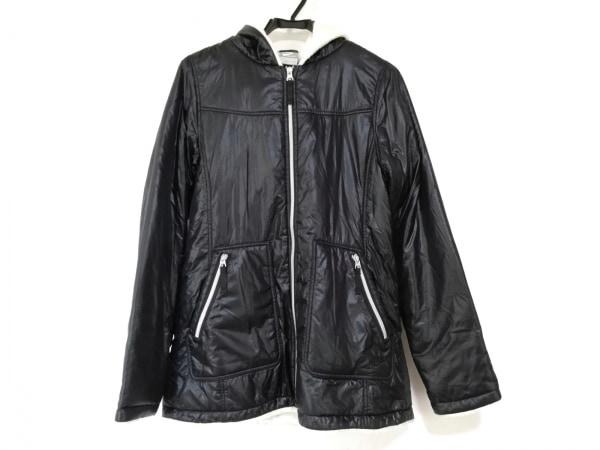 NIKE(ナイキ) ダウンコート サイズL レディース美品  黒 冬物/ジップアップ/中綿