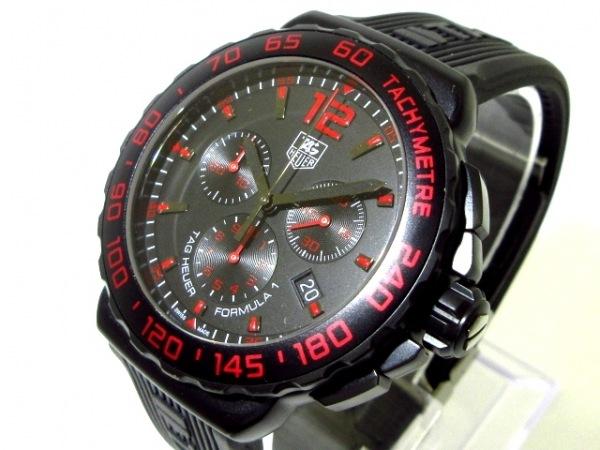 タグホイヤー 腕時計美品  フォーミュラー1 クロノグラフ CAU111D メンズ 黒