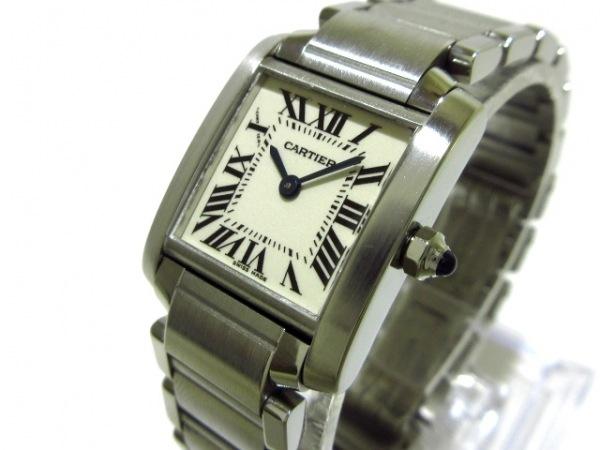 Cartier(カルティエ) 腕時計美品  タンクフランセーズSM W51008Q3 レディース 白