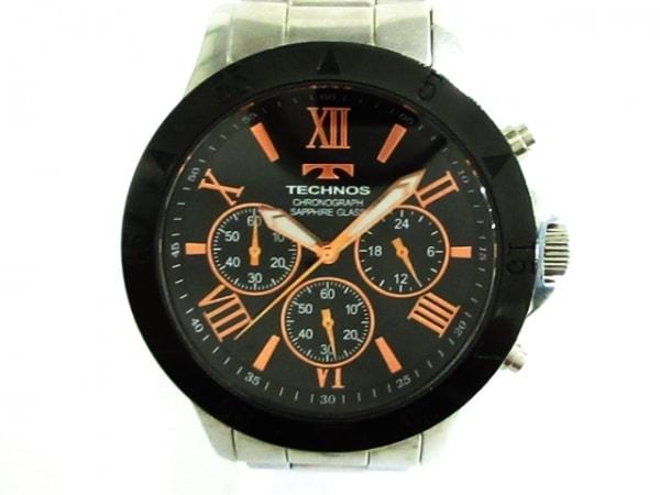 TECHNOS(テクノス) 腕時計 T4274 メンズ 黒