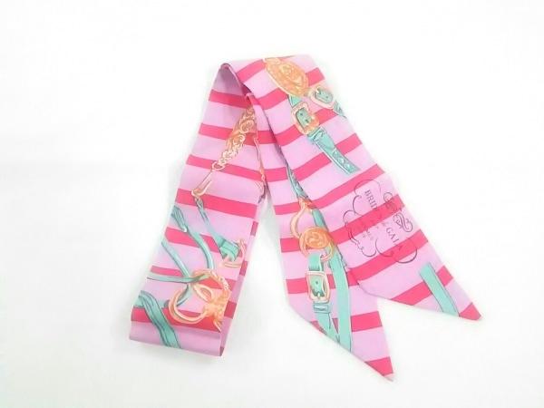 エルメス スカーフ美品  ツィリー ピンク×レッド×マルチ BRIDES deGALA par HERMES