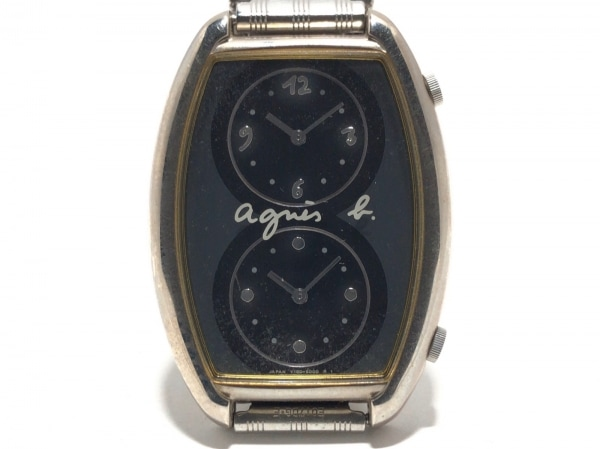 agnes b(アニエスベー) 腕時計 Y150-5000 レディース 黒
