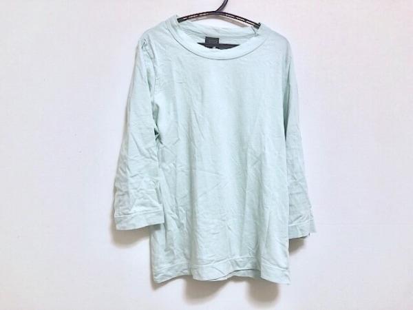 homspun(ホームスパン) 七分袖Tシャツ サイズS レディース ライトグリーン