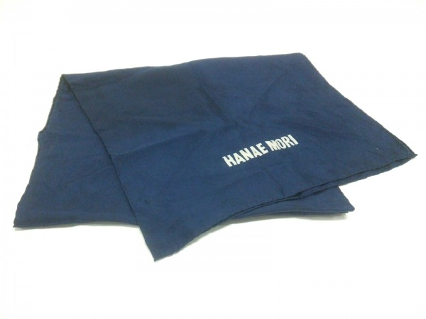 HANAE MORI(ハナエモリ) ストール(ショール) ネイビー 絹