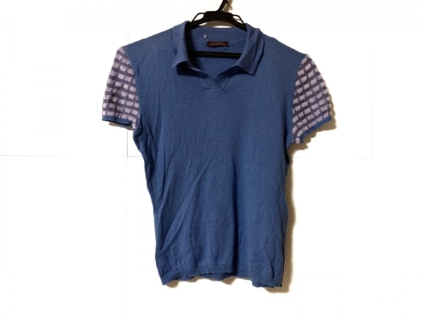 Ballantyne(バランタイン) 半袖セーター サイズ36 S レディース ブルー×パープル