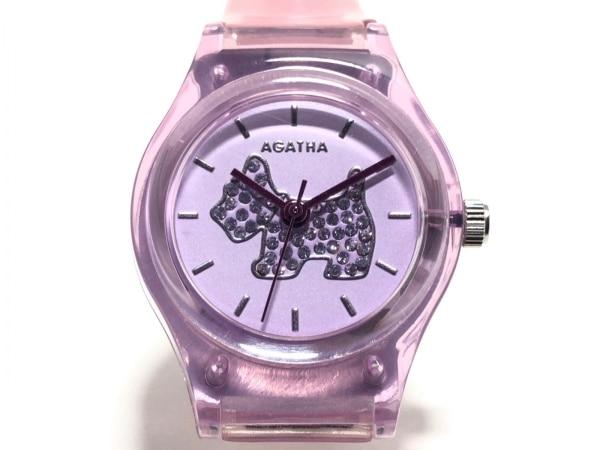 AGATHA(アガタ) 腕時計美品  - レディース ラバーベルト パープル