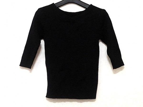 Mystrada(マイストラーダ) 七分袖セーター サイズ38 M レディース美品  黒