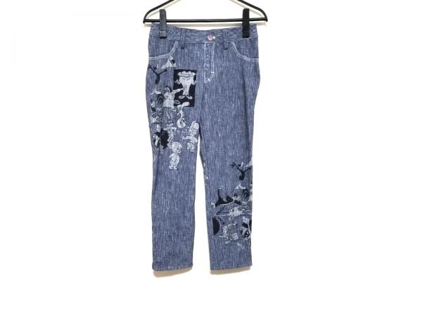 カステルバジャック パンツ サイズ38 M レディース ネイビー×ダークネイビー×マルチ