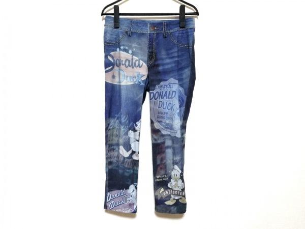 カステルバジャック パンツ サイズ40 M レディース ブルー×ネイビー×マルチ
