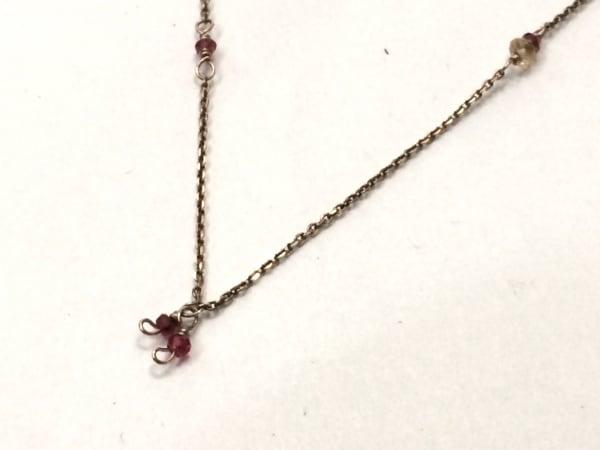 NOJESS(ノジェス) ネックレス美品  K10×ラインストーン レッド