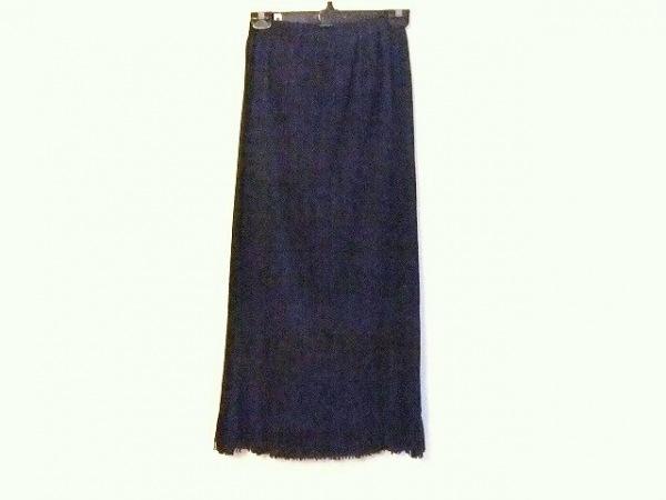 プリーツプリーズ ロングスカート サイズ2 M レディース ダークネイビー