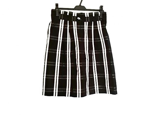 YORKLAND(ヨークランド) スカート サイズ11 M レディース美品  黒×白 チェック柄