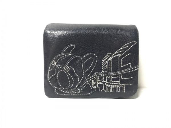 KITAMURA(キタムラ) 2つ折り財布 黒 レザー