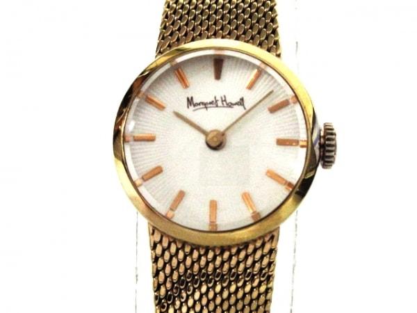 MargaretHowell(マーガレットハウエル) 腕時計美品  4520-T001653 レディース 白