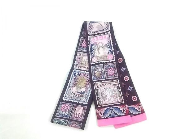 LOUIS VUITTON(ルイヴィトン) スカーフ美品  ボルドー×ピンク×マルチ バッグ柄