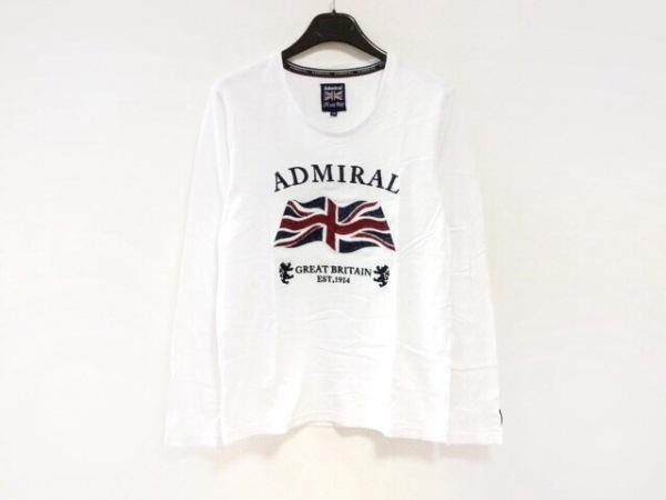 アドミラル 長袖カットソー サイズ2 M レディース美品  白×ネイビー×レッド