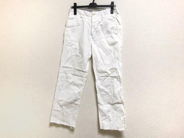 GTA(ジーティーアー) パンツ サイズ44 L レディース 白 ダメージ加工