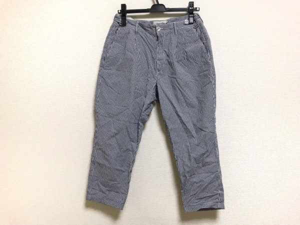 GTA(ジーティーアー) パンツ サイズ46 XL レディース ネイビー×白 チェック柄
