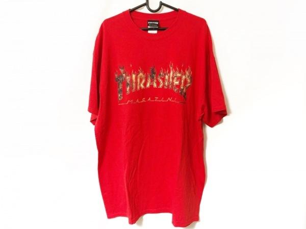 THRASHER(スラッシャー) 半袖Tシャツ サイズXL メンズ美品  レッド