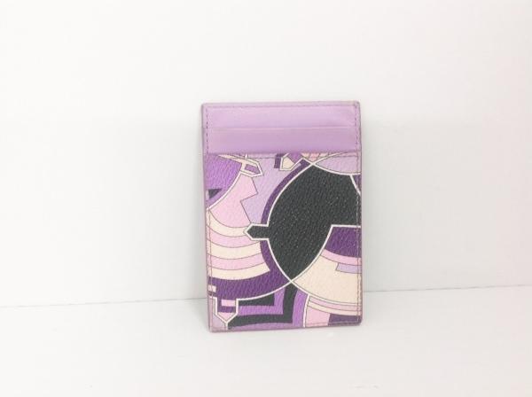 エミリオプッチ パスケース パープル×マルチ PVC(塩化ビニール)×レザー