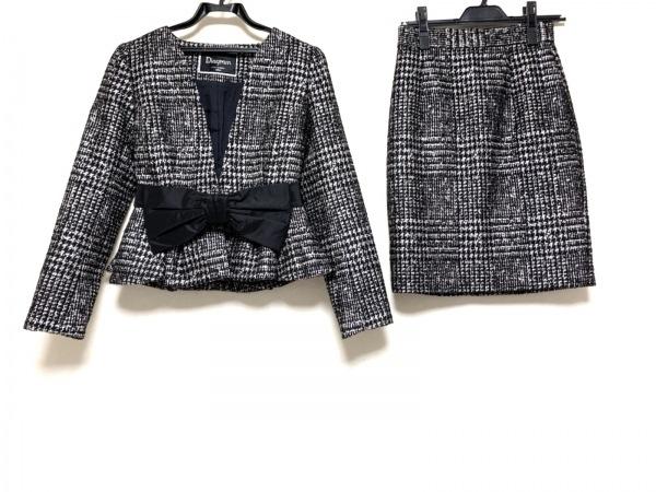 ダイアグラム スカートスーツ サイズ36 S レディース 黒×白