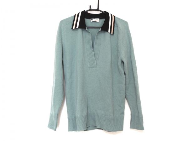 LANVIN(ランバン) 長袖セーター サイズT.S メンズ美品  ライトグリーン×黒×マルチ