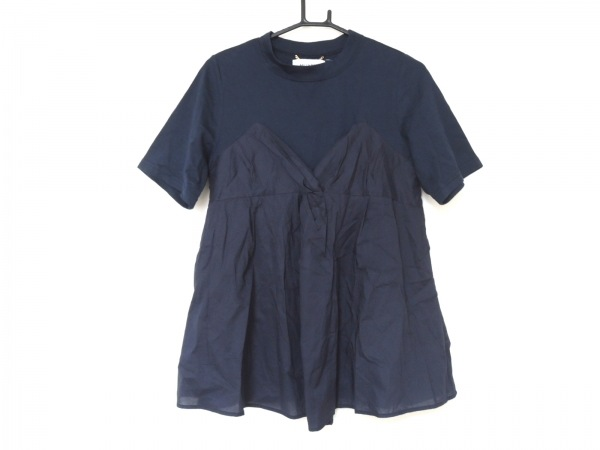MUVEIL(ミュベール) 半袖カットソー サイズ38 M レディース美品  ネイビー