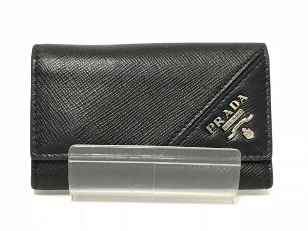 PRADA(プラダ) キーケース - 2PG222 黒 6連フック レザー
