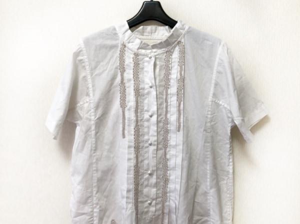HaaT HeaRT(ハート) ワンピース サイズ2 M レディース 白×ベージュ 刺繍