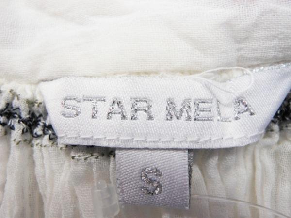 スターメラ 長袖カットソー サイズS レディース美品  アイボリー×黒×マルチ 刺繍