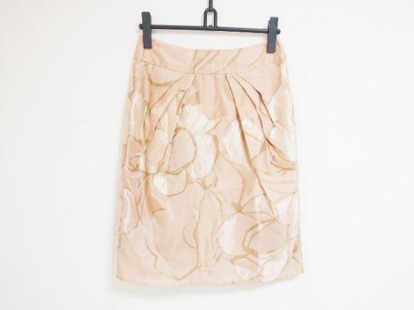 ブルーガールブルマリン スカート サイズ42(I) M レディース シルク/花柄