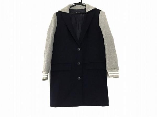 ジェット コート サイズ4 XL レディース美品  ネイビー×グレー 春・秋物