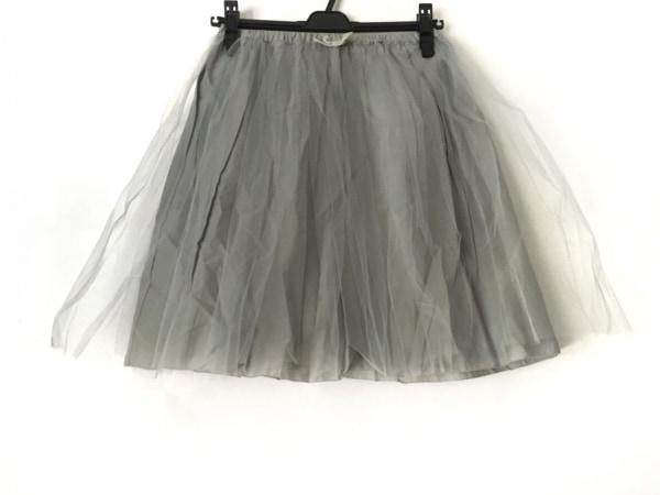 Bilitis(ビリティス) スカート サイズ36 S レディース美品  グレー チュール/リボン
