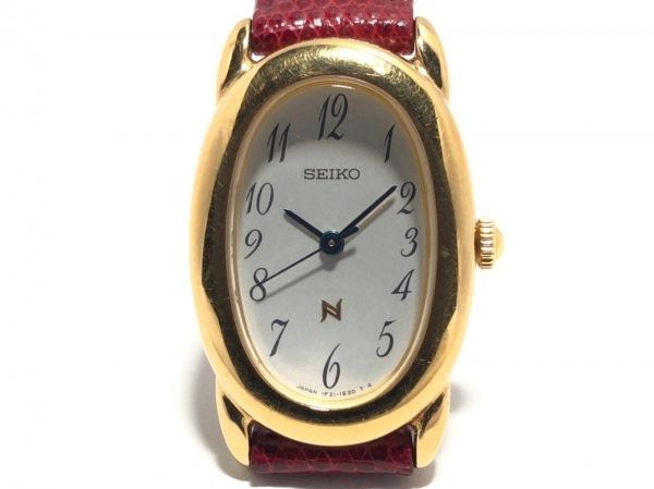 SEIKO(セイコー) 腕時計美品  ノイエ 1F21-5B70 レディース 革ベルト アイボリー