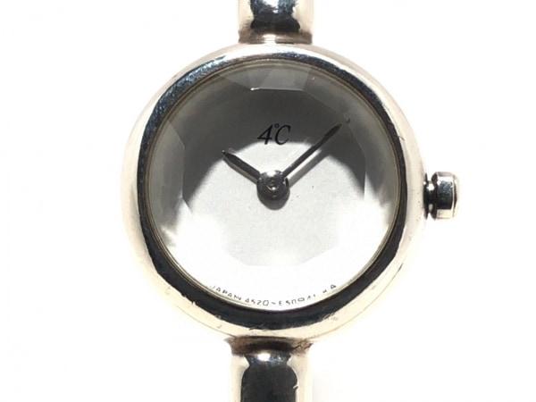 4℃(ヨンドシー) 腕時計美品  - レディース アイボリー